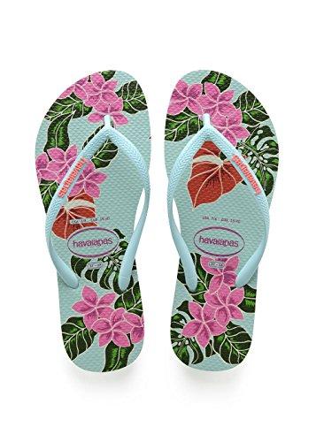 Havaianas-Slim-Floral-Chanclas-Mujer-Azul-Ice-Blue-3738-EU-3536-Brazilian