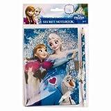 Disney Journal intime et bloc note verrouillable avec écrou et clé de la reine des neiges et un crayon