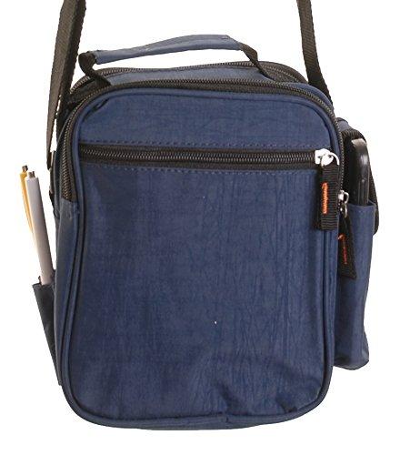 Umhaengetasche-Messenger-Bag-Schulter-Tasche-Messengertasche-Schultertasche-6287 (Schwarz) Grau