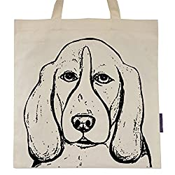 Basset Hound Named Rembrandt Tote Bag : Small Dog Breed Tote Bag by Pet Studio Art
