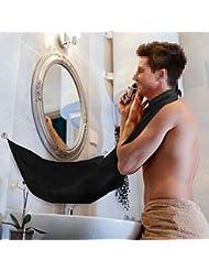 Beard Tablier Cape, Richoose Barbe Cape Rasage Mirror Ventouse Laissez votre salle de bains nettoyer, ne vous embêtez pas à nettoyer Beard Passementerie, Hairs et Whiskers