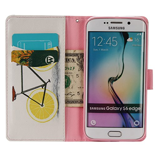 Aeeque iPhone 5/5S/5C/SE/6 plus/6S,, Samsung Galaxy S3/S4/S5/S6/S6/S6 Edge Edge J5/plus/nota 5/S7/S7/Edge G360/G530/i9060, Sony Xperia M4/Z5 mini/Z5, P8 Huawei Lite pittura, disegno elegante Custodia  Yellow Lemon Bike