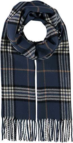 GIORGIO RIMALDI Schal kariert für Damen & Herren - Made in Germany - warmer Schal mit Karomuster - karierter Winter-Schal - hochwertiger Web-Schal, Denim, Einheitsgröße -