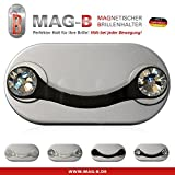MAG-B magnetischer Brillenhalter (Edelstahl schwarz mit original Swarovski Kristallen)
