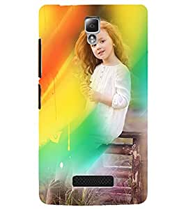PrintDhaba Cute Baby D-5030 Back Case Cover for LENOVO A2010 (Multi-Coloured)