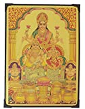 #7: Lord Kubera Lakshmi ( Gold Foil ) Photo Frame ( 30.5 cm x 22.5 cm x 1 cm ) / Wall Hangings for Home Decor and Wall Decor / Photo Frames For Posters and Thanksgiving Wall Decorations / kuberar lakshmi laxmi kubera kuber asta ashta Art work for Paintings and Wall Stickers / God Gods and Goddess Photo Frames