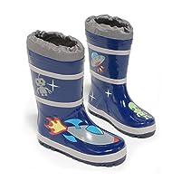 Kidorable Space Hero Rain Boot, Blue, 10