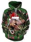Weihnachts-T-Rex Hoodies bedruckt