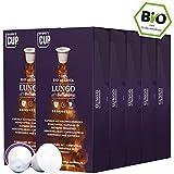 Bio Kaffeekapseln Nespresso kompatibel kompostierbar ohne Alu von My-CoffeeCup (Kaffee Lungo No. 2 Bellissimo, 100 Kapseln)