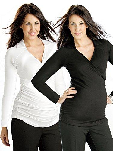 FunMum Maternity -  Camicia Casual  - avvolgente - Maniche lunghe  - Uomo Black