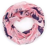 ManuMar Loop-Schal für Damen | Schlauch-Schal mit Pferde-Motiv