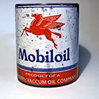 Mobil Lube Motor Oil Can 11 oz. Coffee Mug Antique Collector by Images In Tile USA