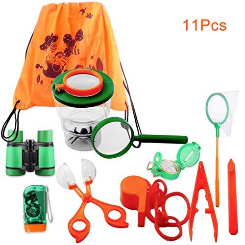 DAN DISCOUNTS 11 Stück Abenteuer Outdoor Exploration Kit für Kinder Fun Toys Lernspielzeug