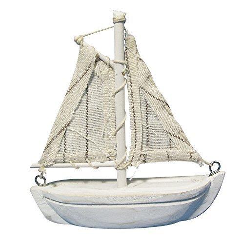 Rayher 8606500 Holz-Segelboot, 8,5 cm