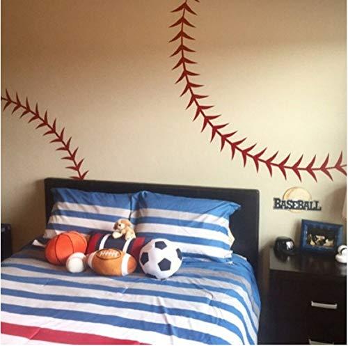 Star source Große Baseball Nähte Nähte Wandaufkleber Vinyl Wandaufkleber Für Kinderzimmer Jungen Zimmer Wandkunst Aufkleber Schlafzimmer Dekor T181201