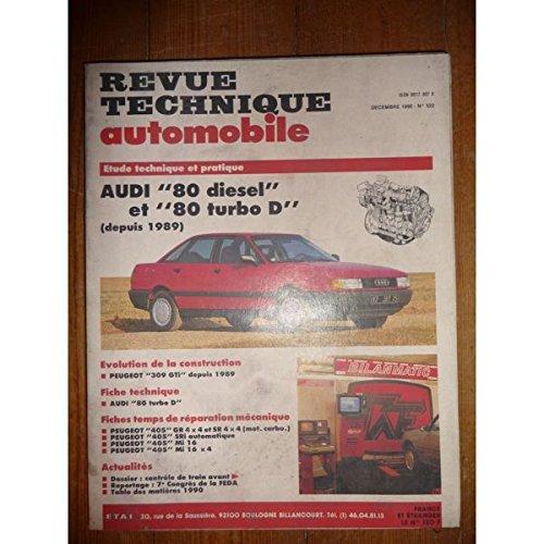 RTA0522 - REVUE TECHNIQUE AUTOMOBILE AUDI 80 Diesel et Turbo-Diesel depuis 1989
