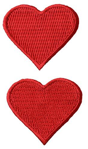Wrights Aufnäher Appliques-red Herzen 1-3/10,2cm x1-3/10,2cm 2/Pkg -