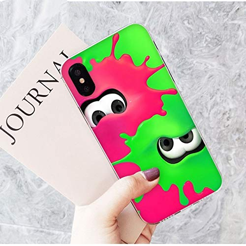 XiYon Splatoon TPU transparent Telefon case Abdeckung Shell für Apple iPhone 8 7 6 6 s Plus x xs max 5 5 s se xr Handy Abdeckung, a16, für iPhone XS max