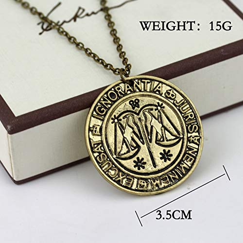 Of Magic Symbol Chain Chain Chain Choker For Women Men Cosplay Gift Necklace ()