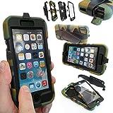 Coque Protection Robuste Usage Survivant Antichoc Robuste pour iPhone 3 3G 3GS - Apple iPhone 6, Camouflage