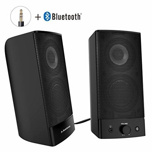 Avantree Desktop 2.0 Lautsprecher Computer Bluetooth, Wireless & Wired, Multimedia Lautsprechersystem Speakers mit 3,5mm AUX für PC, Laptop, Notebook, Mac, TV und Handy - SP750 [2 Jahre Garantie]