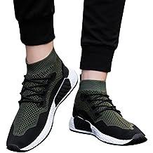 Familizo-Scarpe Fami Moda Uomo Alta Aiuto Soft Sole Scarpe da Corsa Scarpe da Ginnastica Calze Scarpe