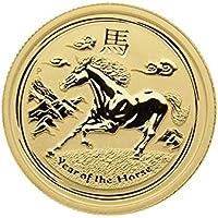 "1/4 oz Australien 2014 Lunar II ""Year of the Horse"" (Pferd) 999,9 Goldmünze"