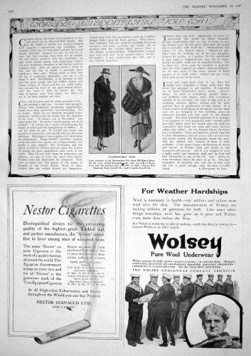 1917 SIGARETTE INTERNAZIONALI DI NESTOR DELLA BIANCHERIA INTIMA DEL DEPOSITO WOLSEY DELLA PELLICCIA DI MODO DELLE