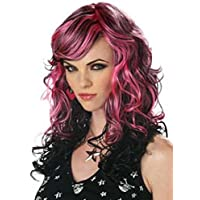 Wigs women long pink black Carnival Carnival Halloween (peluca)