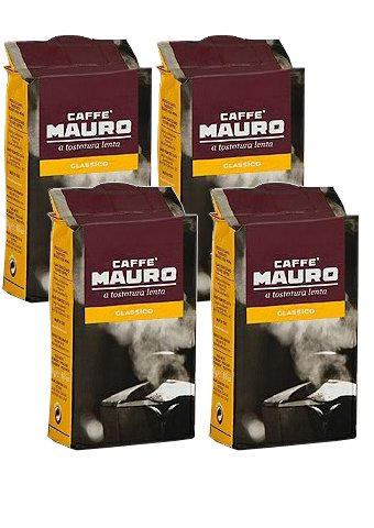 Mauro Caffe Classico gemahlen 1 kg, (4 x 250g Packung)
