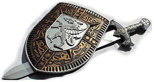 Ritterausrüstung Schwert und Schild, Spielzeugset, Mittelalterrüstung (Ritter Schild Kostüm)