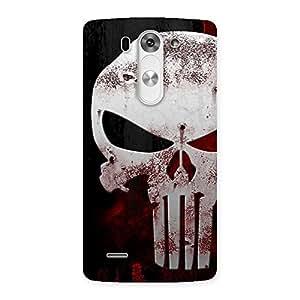 Premium Bleed Red Skull Back Case Cover for LG G3 Beat