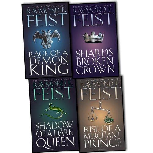 Raymond E. Feist Serpentwar Saga 4 Books Collection Pack Set RRP: £33.96 (Shards of a Broken Crown, Shadow of a Dark Queen, Rage of a Demon King, Rise of a Merchant Prince)