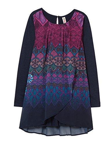Desigual Mädchen Kleid Vest_MAGRANA, Blau (Navy 5000), 164 (Herstellergröße: 13/14)