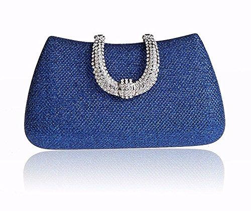 Europa Und Die Vereinigten Staaten, Mode, Exquisite, Diamond, Abendessen Tasche, Hand - Tasche Royal Blue