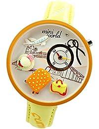 ufengke® polymerclay cartoon kinder armbanduhren 3d ??niedlichen flugzeug hut tasche armbanduhren für mädchen