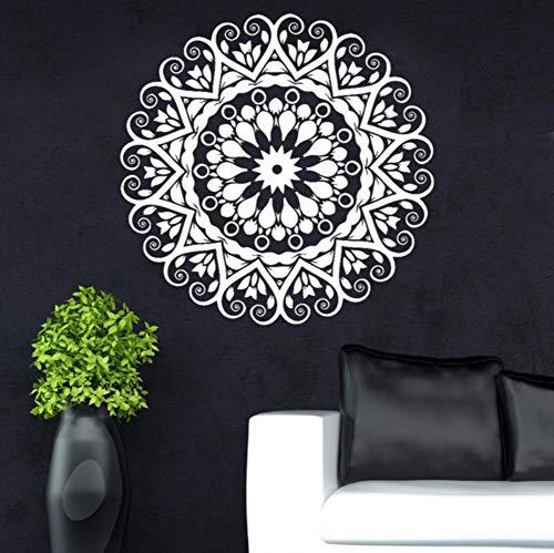 Mgdtt New Year Home Dekoration Indische Runde Mandala Yoga Wandaufkleber Vinyl Abnehmbare WasserdichteWand Wohnzimmer Schlafzimmer 58X58 Cm - 6551 Vinyl