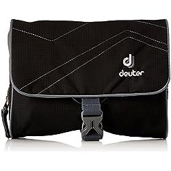 Deuter Wash Bag I Trousse de Toilette Mixte Adulte, Black-Titan, 16 x 19 x 3 cm