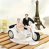 Generic Braut und Bräutigam Riding Motorcycle Hochzeit Tortenaufsatz