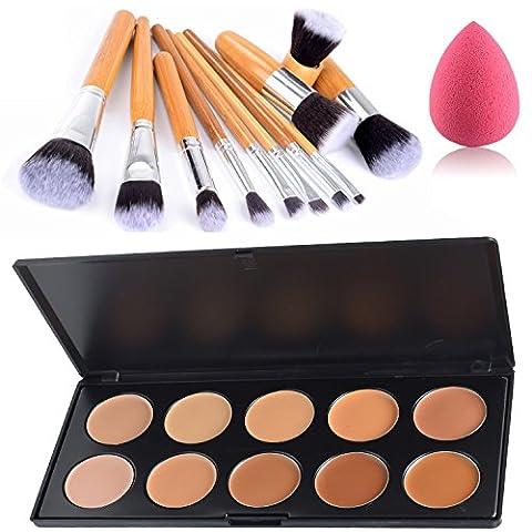 Lover Bar 10 Farben Concealer Palette-Abdeckcreme Camouflage Make Up Kosmetik Set-Makeup Corrector Abdeck Paletten-Cream Contour (Blemish Base)