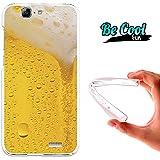 Becool® Fun - Funda Gel Flexible para Huawei Ascend G7 .Carcasa TPU fabricada con la mejor Silicona, protege y se adapta a la perfección a tu Smartphone y con nuestro diseño exclusivo Cerveza rubia
