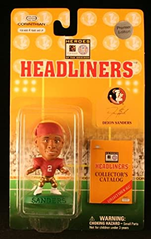DEION SANDERS / FLORIDA STATE SEMINOLES * 3 INCH * 1996 NFL Heroes of the Gridiron * Premier Edition * Headliners Football Collector Figure by Headliners