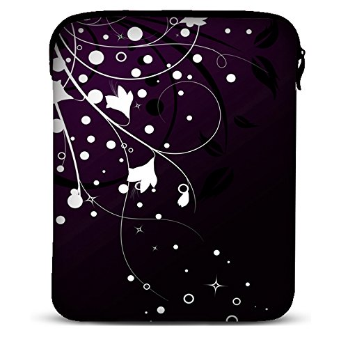 9 Zoll Tablet Hülle Sleeve Kompatibel Mit Samsung Galaxy Tab 4 7.0 Fire HD Apple iPad Mini Lenovo A7 Acer A1 One 7 Asus Nexus Kindle UVM. - White Flowers [7] ()