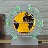 Frei Schwebender Globus, Schwebender Globus mit LED-Leuchten Magnetschwebebahn Weltkarte Globus Schwerkraft Pädagogisches Weihnachtsgeschenk Home Office Schreibtisch Dekoration,Gold