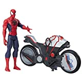 Marvel Spiderman - B9767 - Spiderman Figurine Titan 30 Cm Et Vehicule