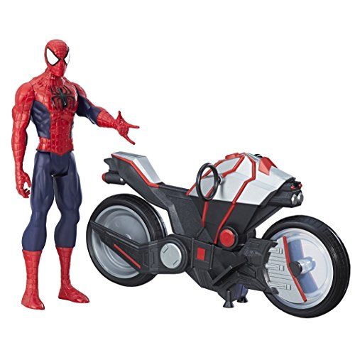 Marvel Spiderman B9767 – Spiderman Figurine Titan 30 Cm Et Vehicule