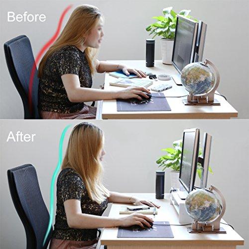 Finether Monitorständer Bildschirmständer Tischaufsatz Schreibtischaufsatz Schreibtischregalfür Monitorerhöhung Bildschirmerhöhung aus WPC weiß 48 x 20 x 10 cm - 4