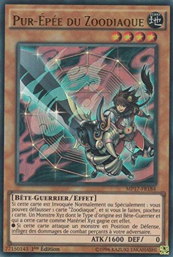 """Carte Yu-Gi-Oh! """"Pur-Epée du Zoodiaque"""" MP17-FR184 - VF/ULTRA RARE"""