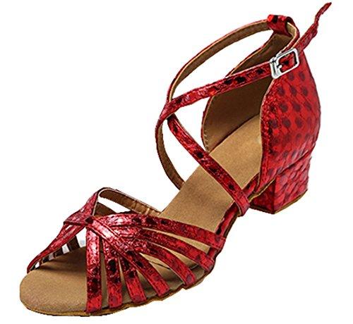 TDA , Damen Peep Toes 5cm Red