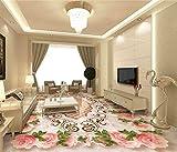 XLi-You 3D Tapete Fresko 3D-Bodenbeläge Custom 3D Badezimmer Bodenbeläge Tapeten Ehrenwerte Parkett Marmor Textur 3D-Fußboden Fliesen Wandbild Tapeten Wandmalerei Hintergrundbild 350cmX270cm
